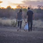 parents with a child, child custody