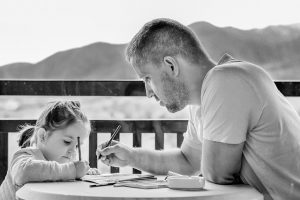 a father with his daughter, family law attorney