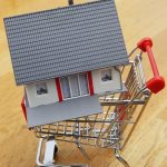 A house model on a shopping cart